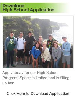 High School Ireland Educational Travel Application